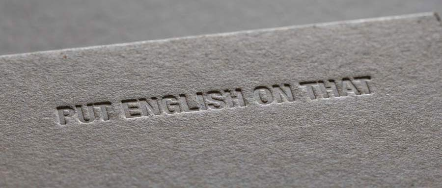 Put English on that by James Hennigan